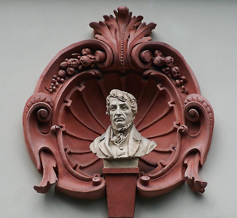 Architecture, Architectural Details, Seashell, Bust