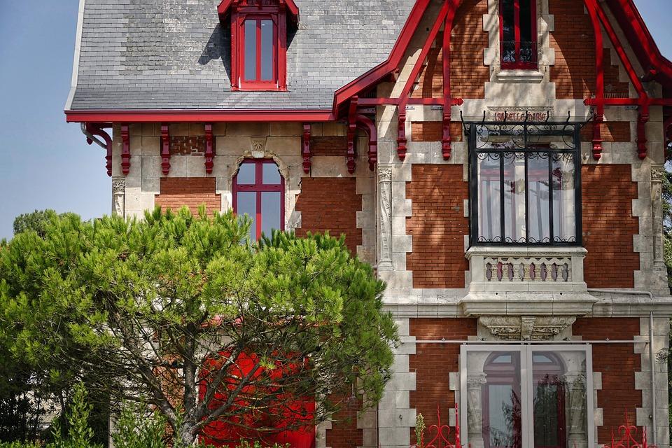 Villa, Art Nouveau, Architecture, Building