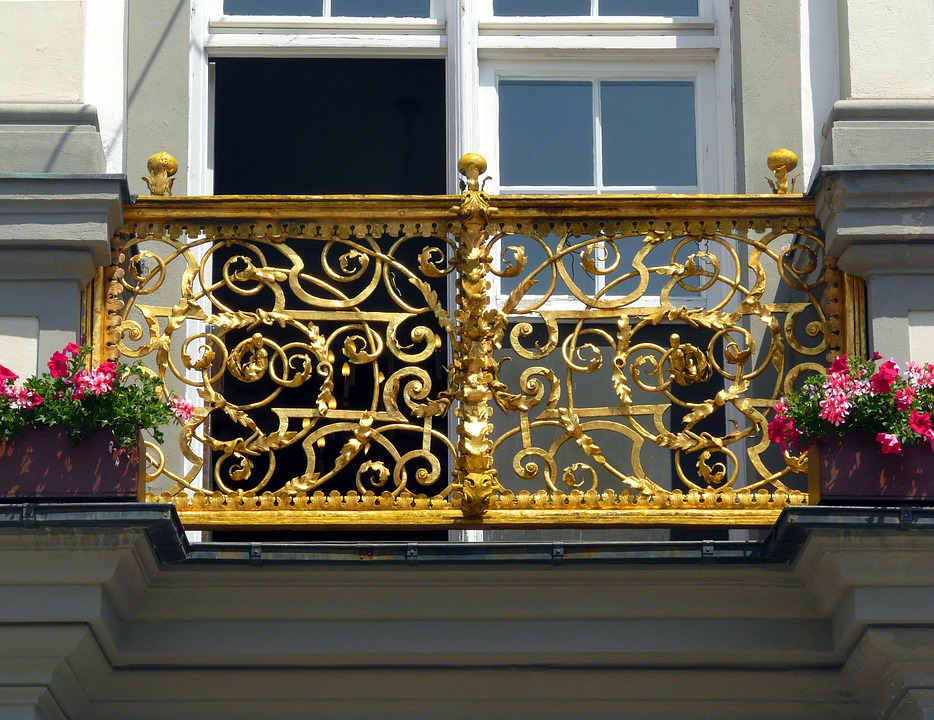 Balcony, Gold, Allgäu, Building, Architecture