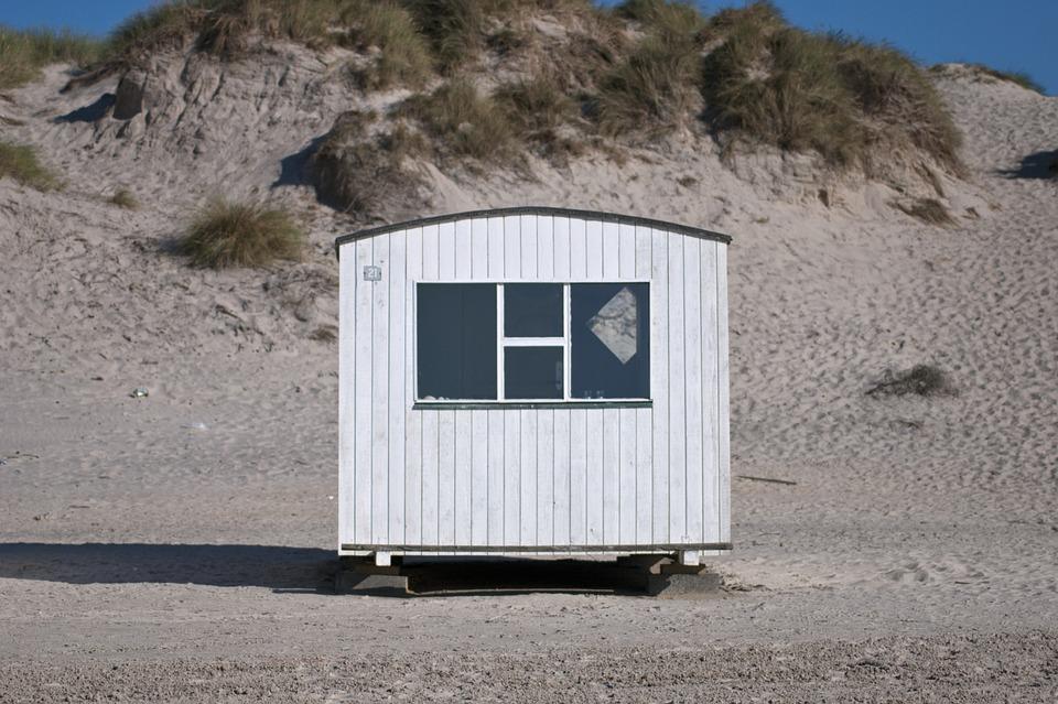 Beach, Cottage, Summer, Sand, Architecture, Rest