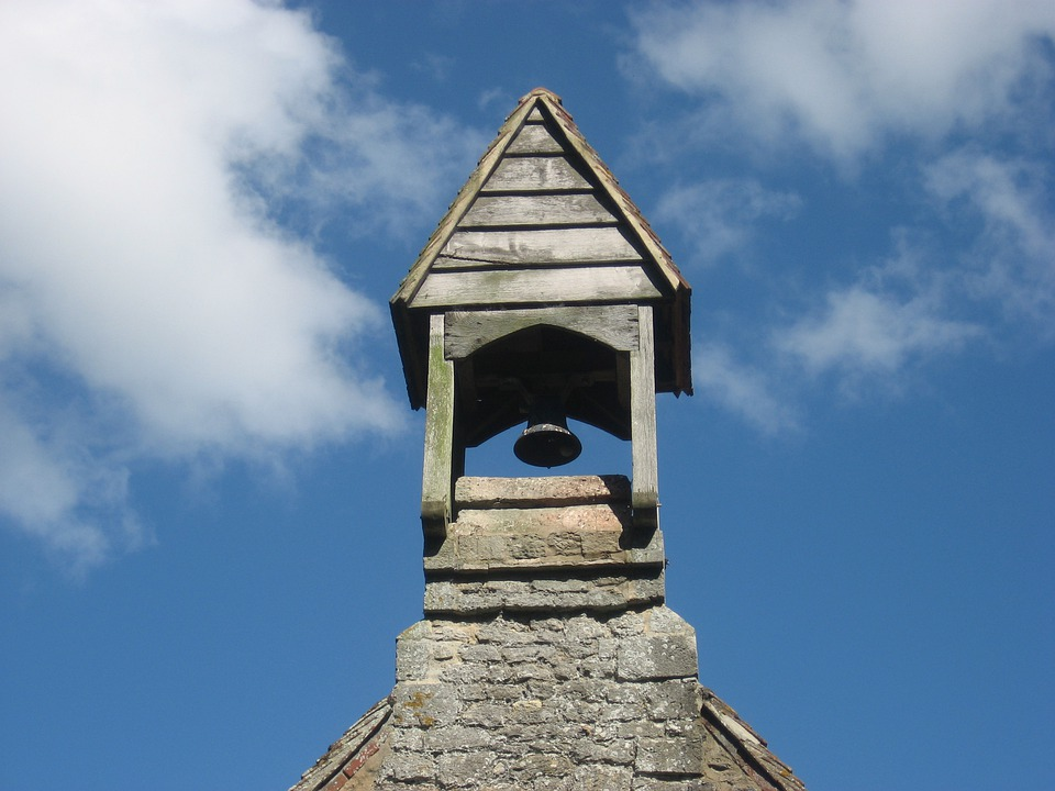 Church, Bell, Blue Sky, Architecture, Tower, Religion
