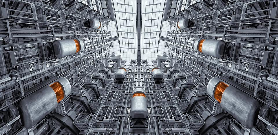 Elevator, Berlin, Ludwig Erhard Haus, Architecture