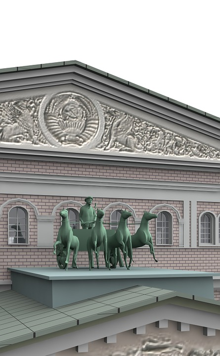 Bolshoi, Theater, Moscow, Architecture, Building