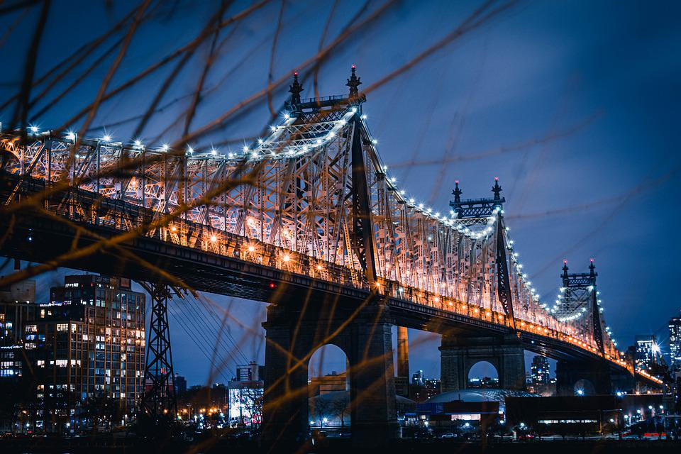 New York, Queens, Nyc, Architecture, Bridge