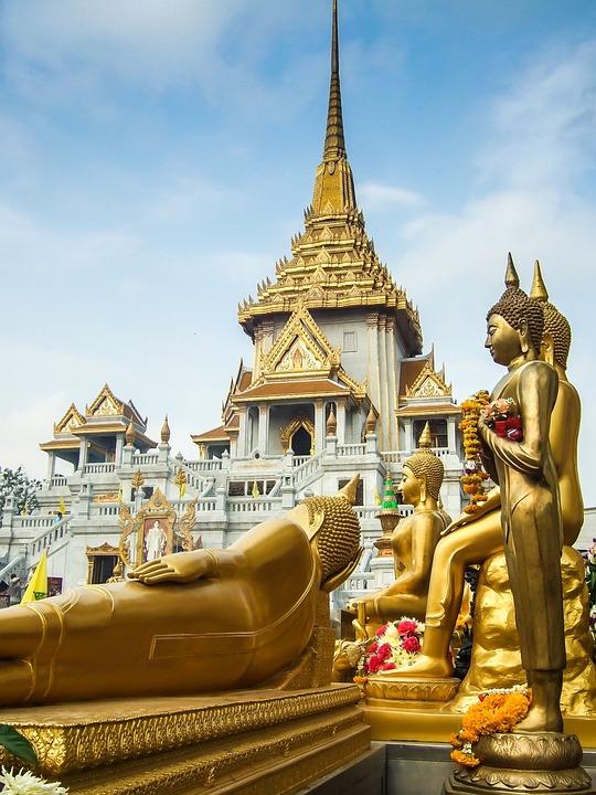Thailand, Temple, Gold, Buddha, Bangkok, Architecture