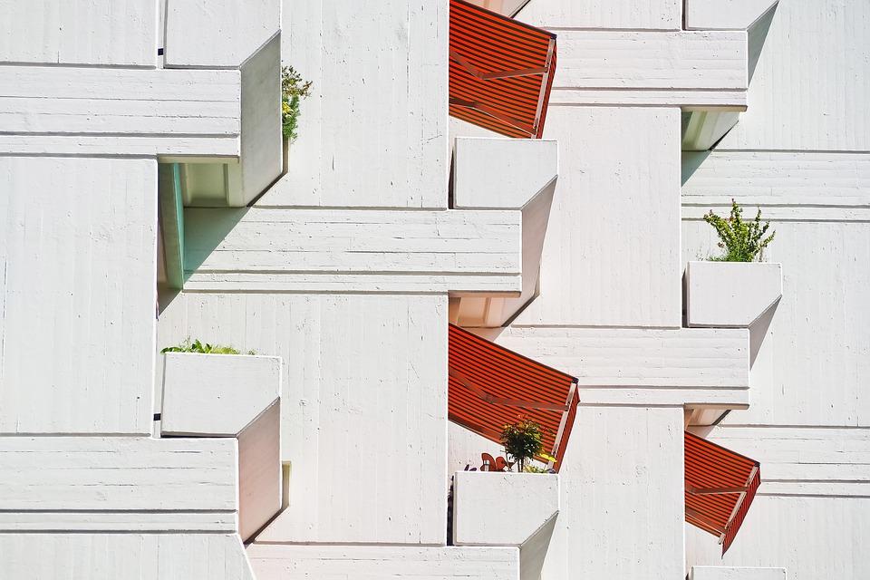 Architecture, Facade, Building, Modern, Balconies
