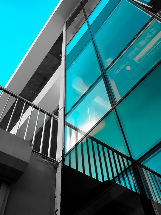 Architecture, Blue, Building, Building Interior