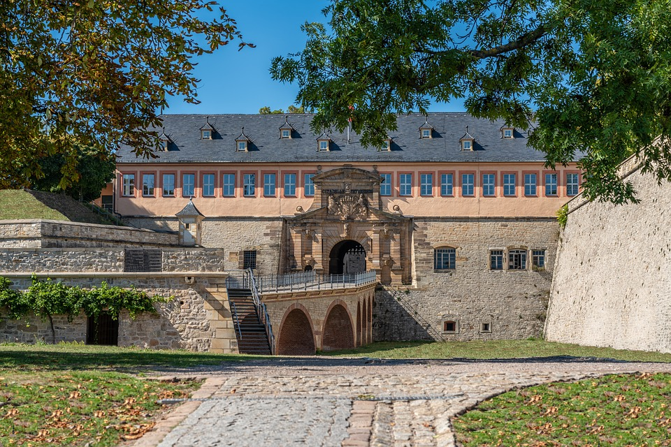 Castle, Erfurt, Architecture, Building, Germany