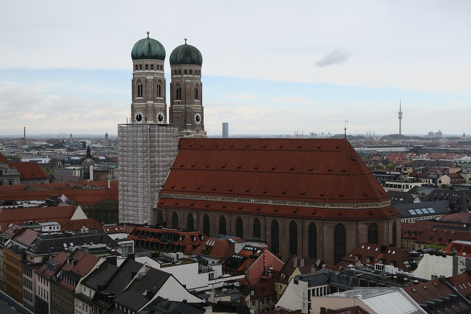 Munich, Church, Towers, Building, Architecture, View