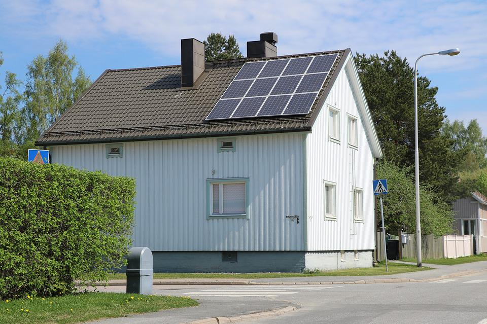House, Building, Solar Panel, Architecture, Energy