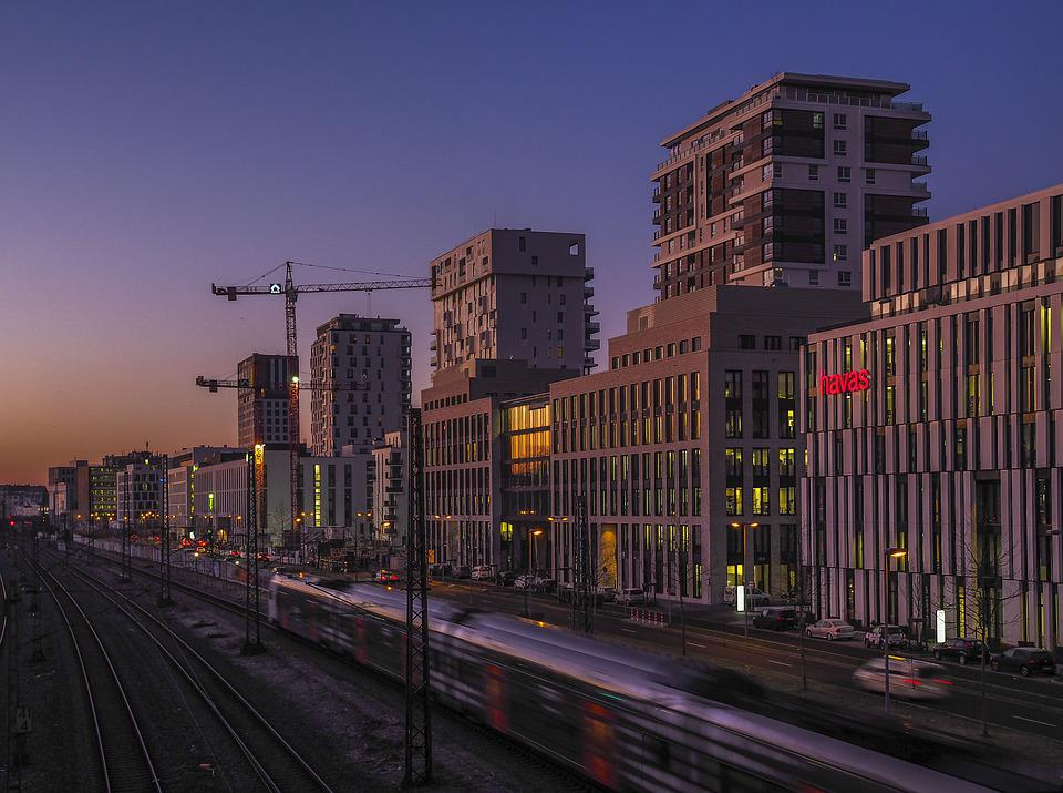 Architecture, Morning, Sunrise, City, Building, Skyline