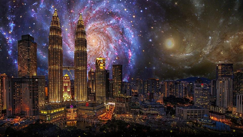 City, Kong Kuala, Building, Twin Towers, Architecture