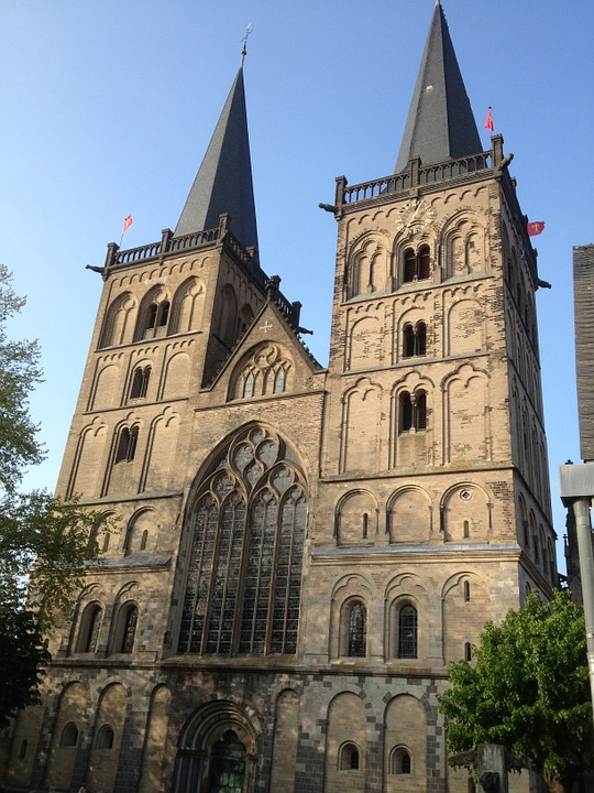 Church, Dom, Xanten, Germany, Architecture, Building