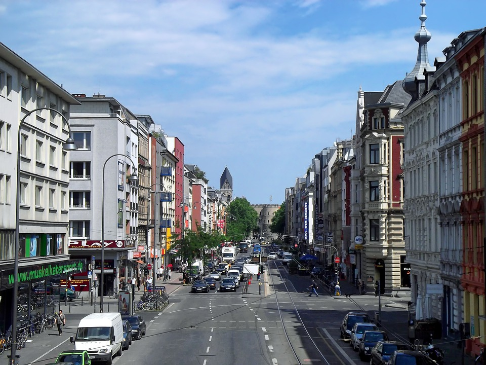 Cologne, Germany, Buildings, Architecture, Street