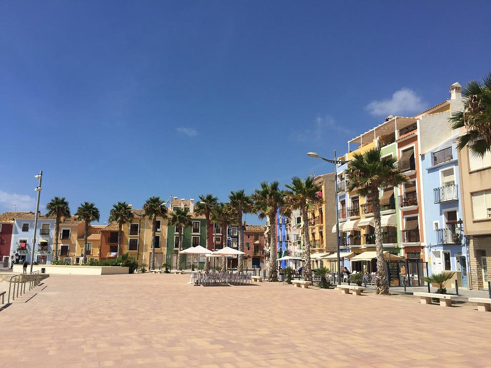 Villajoyosa, Buildings, Architecture, Colorful
