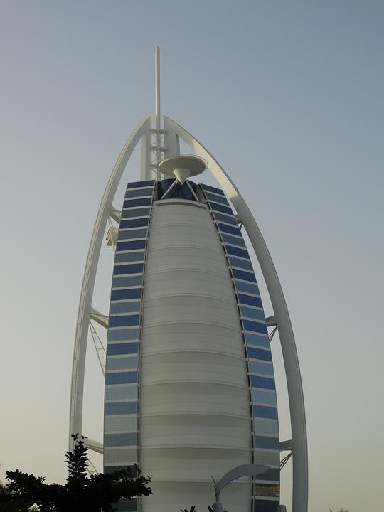 Burj Al Arab, Dubai, Hotel, Building, Architecture
