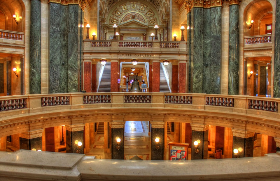 Wisconsin, Capitol, Chambers, Architecture, Room