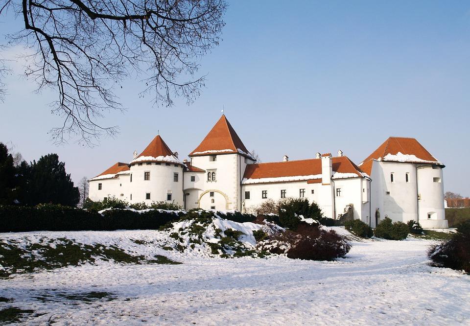 Castle, White, Architecture, Building, Old, Landscape