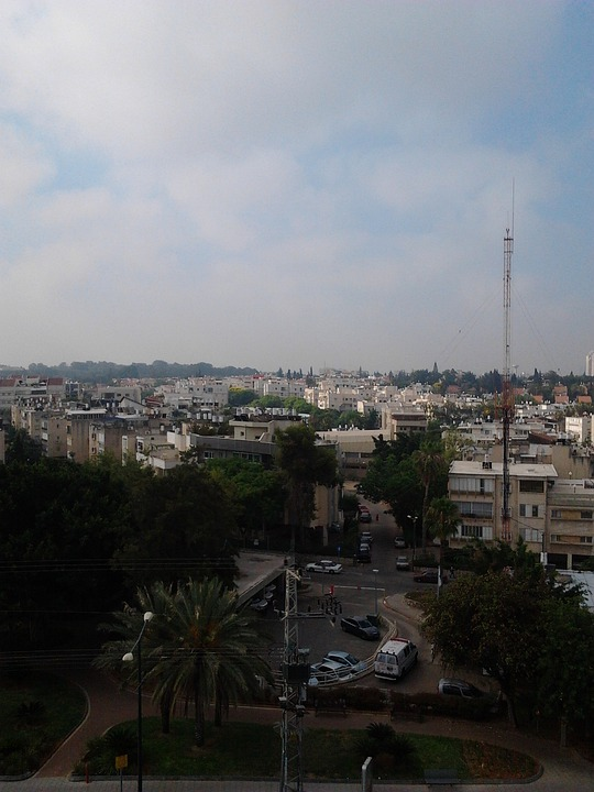 Israel, Cell-tower, Architecture, Skyline, City, Tower