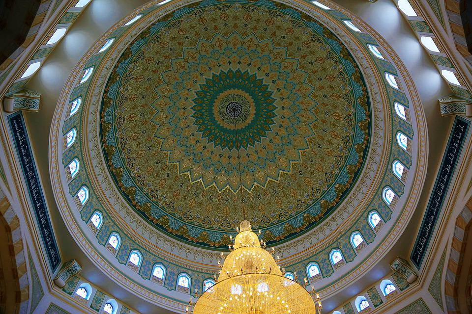Architecture, Cami, Dome, Chandelier, Pattern, Decor