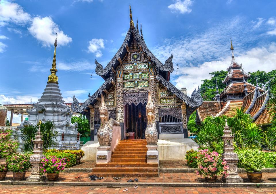 Temple, Architecture, Building, Facade, Chiang Mai