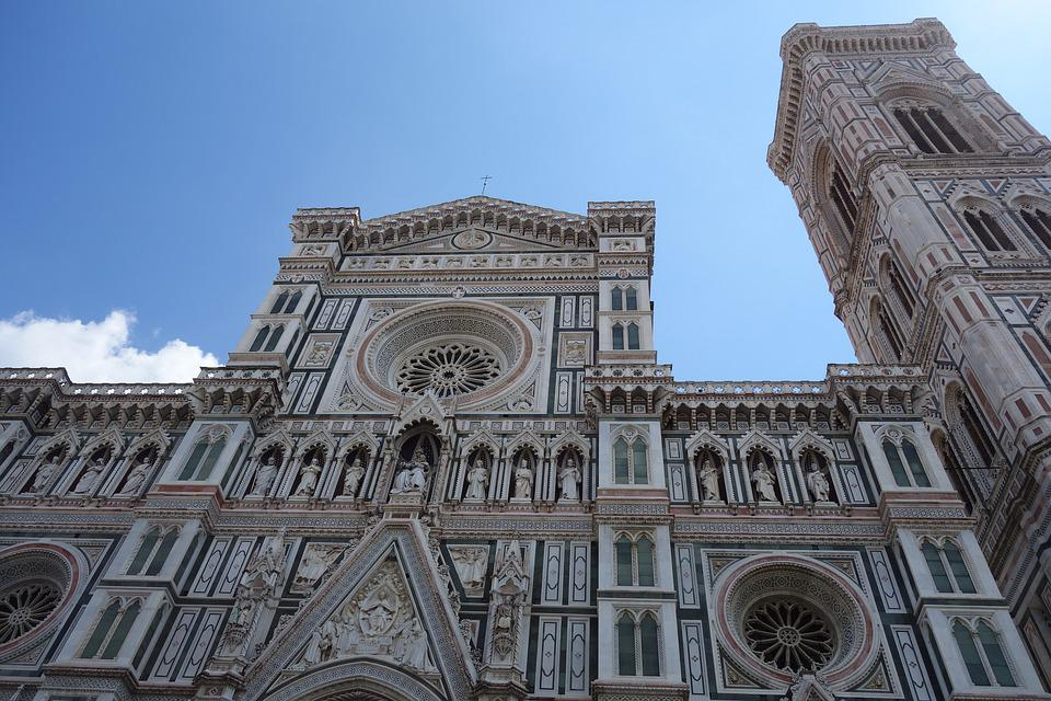 Florence, Cathedral, Italy, Architecture, Church