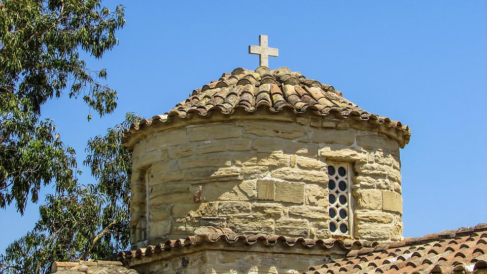 Cyprus, Alaminos, Church, Dome, Orthodox, Architecture