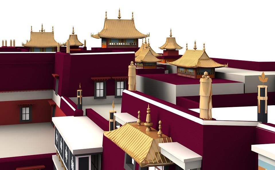 Potala, Palace, Lhasa, Architecture, Building, Church