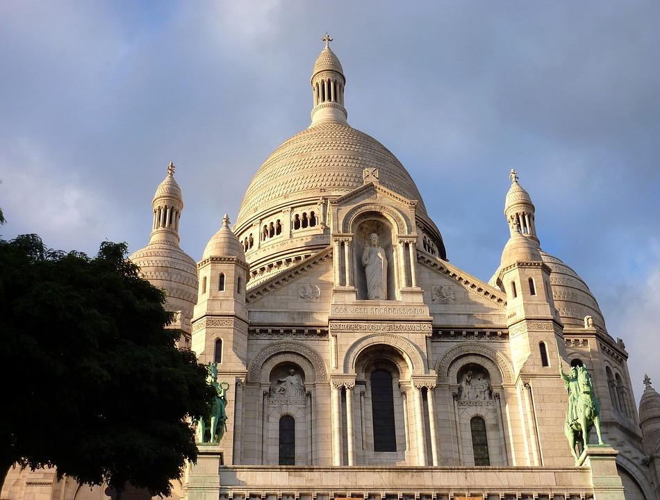 Paris, Sacre Coer, Church, Landmark, Architecture