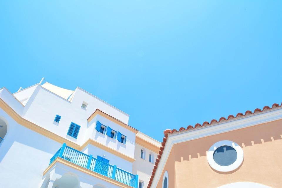 Architecture, Blue Sky, Buildings, City, Colors