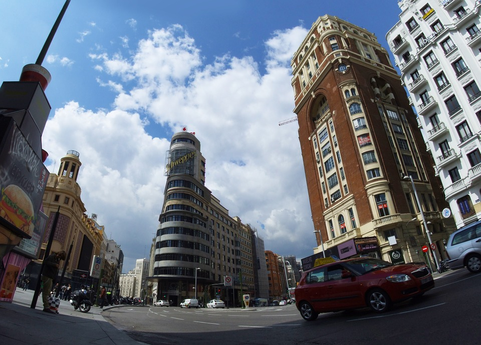 City, Madrid, Great Way, Architecture, City Centre