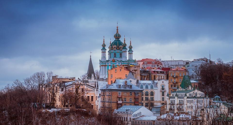 Kiev, Russia, City, Urban, Architecture, Buildings