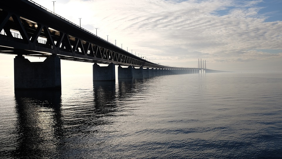 Architecture, Bridge, Cloud Formation, Clouds