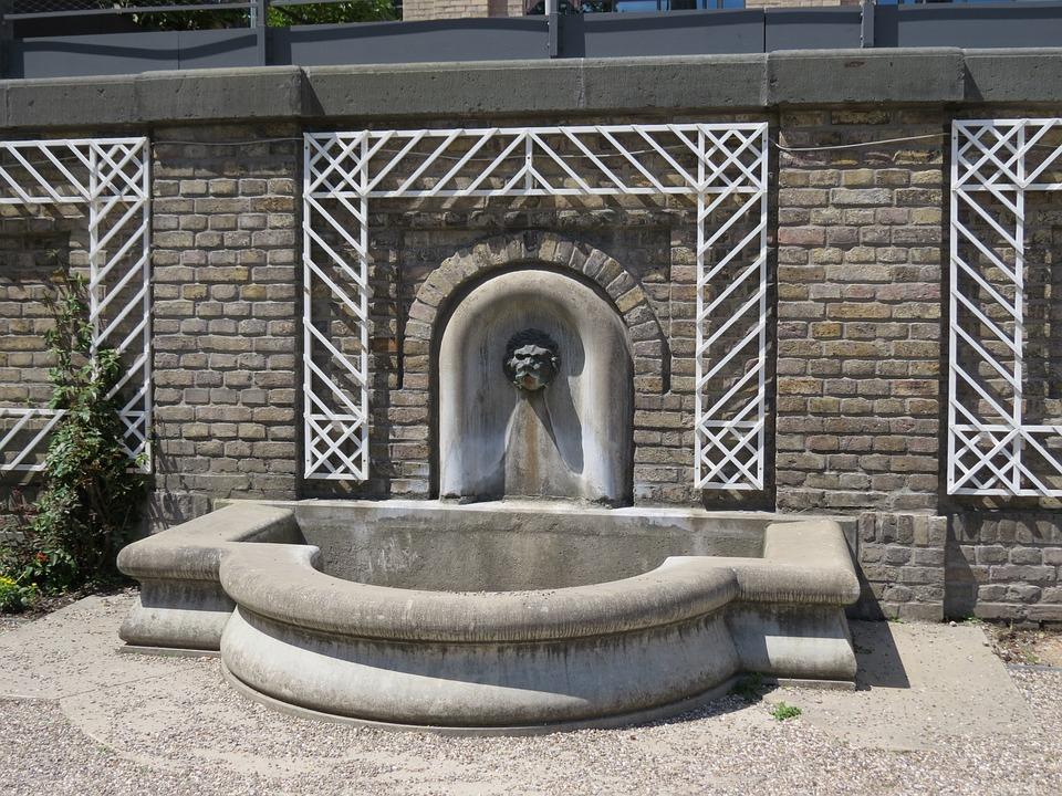 Fountain, Cologne, Architecture, Lion Head
