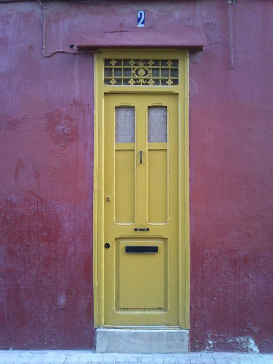 Door, Architecture, Vintage, Colors, Red, Facade, Old