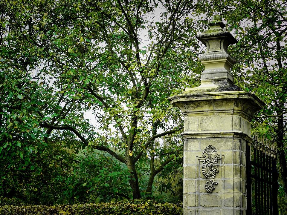 Old, Architecture, Column, Park, Classic, Autumn