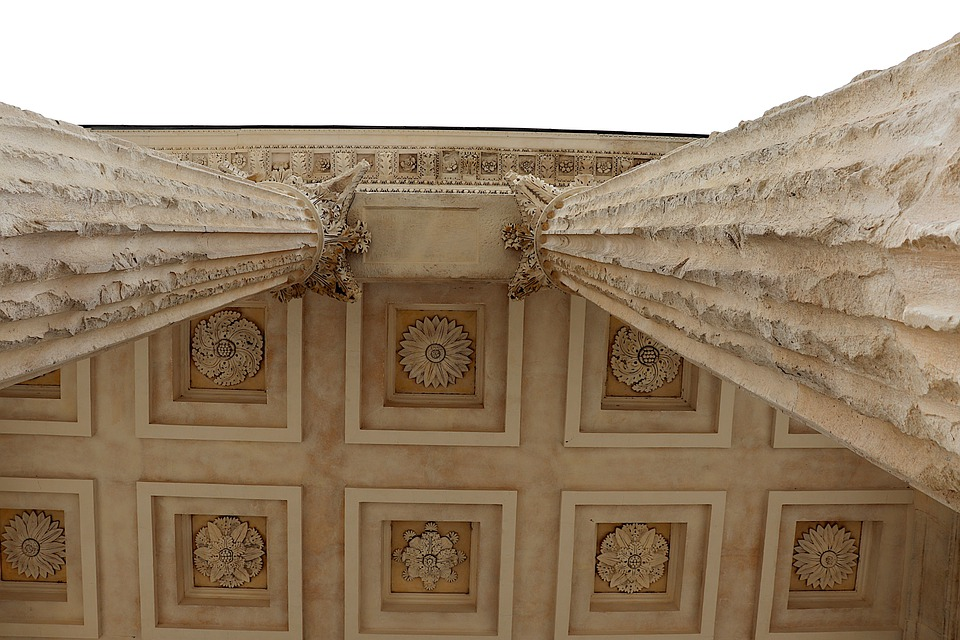 Roof, Ceiling, Column, Art, Architecture, Pierre's Size