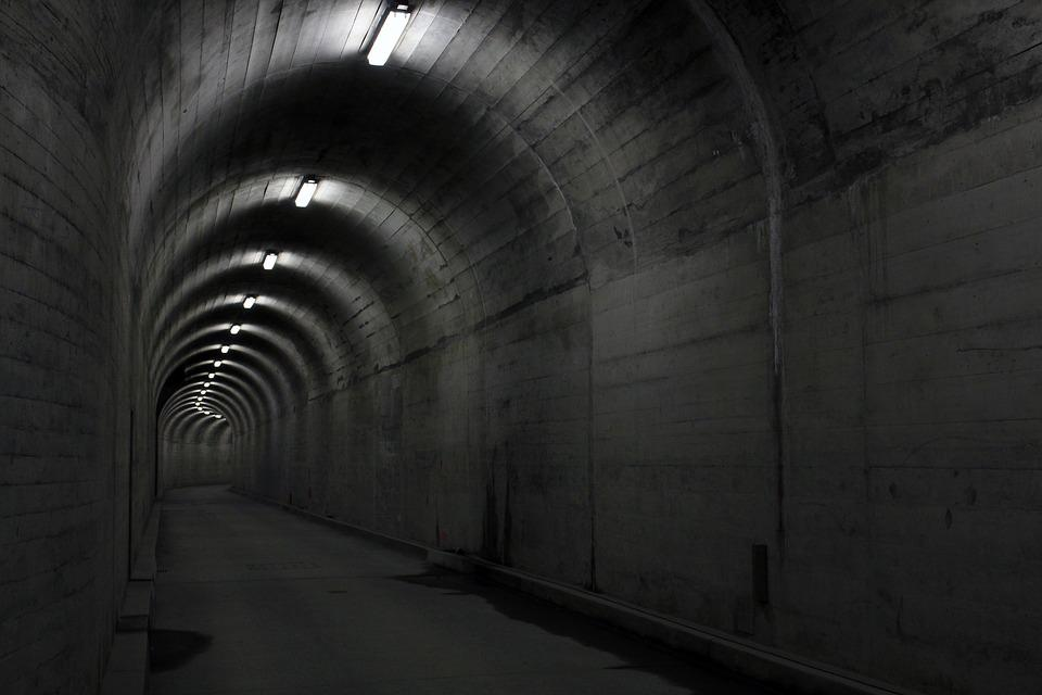 Tunnel, Concrete, Light, Architecture, Underpass, Lamps