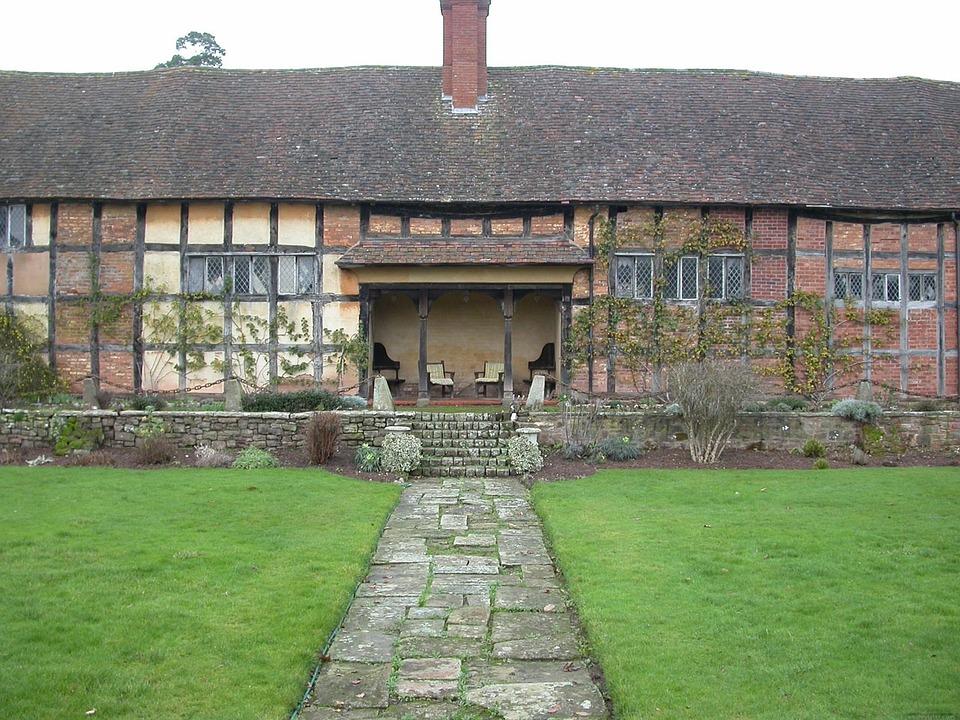 Sunken, Garden, House, Building, Architecture, Cottage
