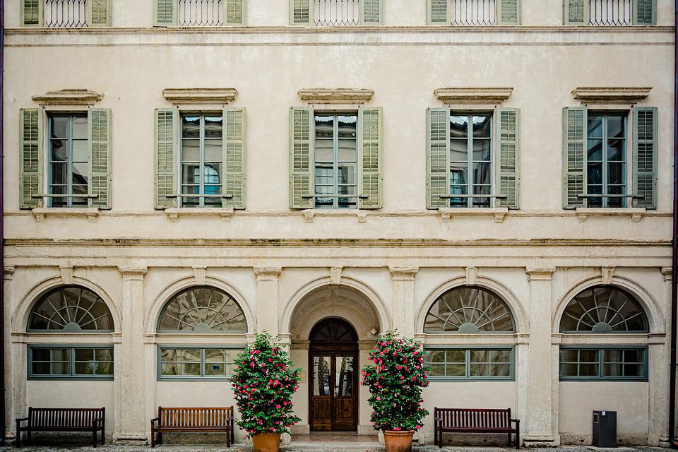 Facade, Window, Courtyard, Input, Architecture, Trento