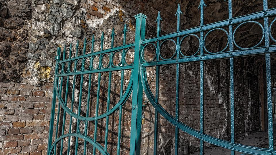 Architecture, Background, Old, Iron, Crypt, Closed