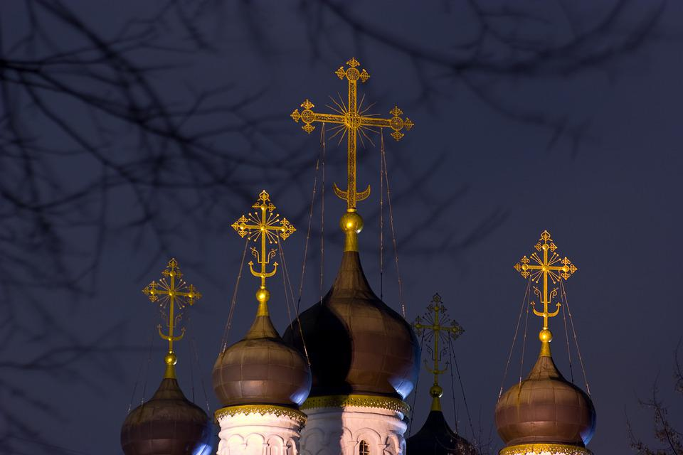 Church, Night, Dome, Architecture, Structure, Building
