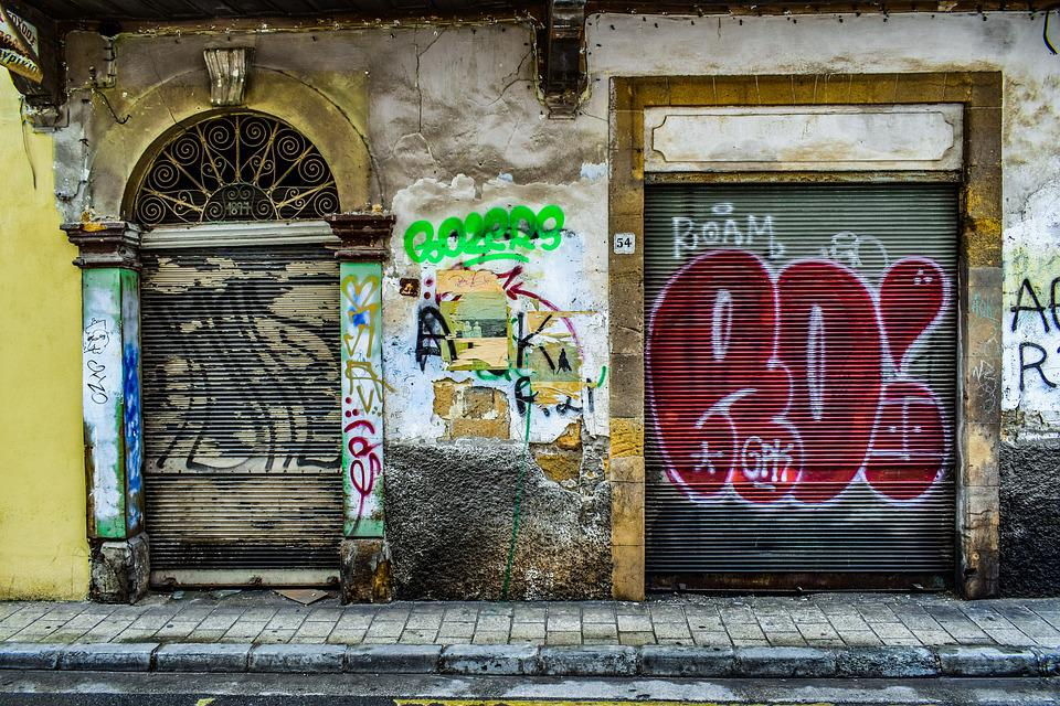 Door, Architecture, Street, Wall, Entrance, Graffiti