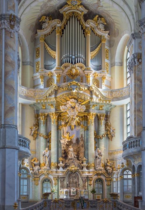 Frauenkirche, Dresden, Altar, Architecture, Landmark