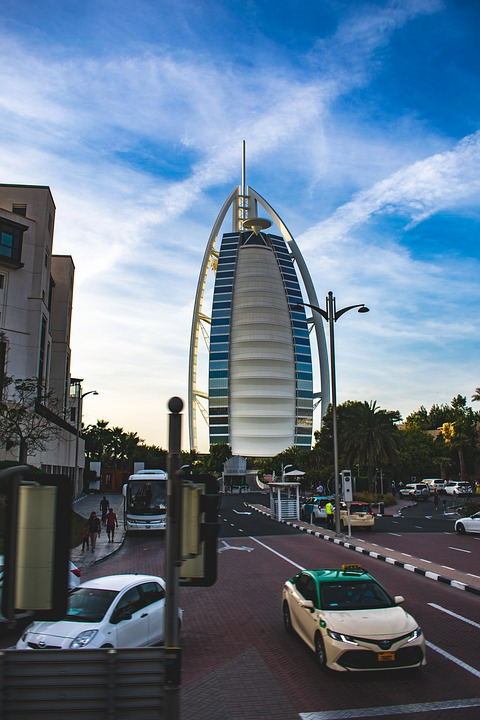 Skyline, Dubai, Burj Al Arab, Architecture, Building
