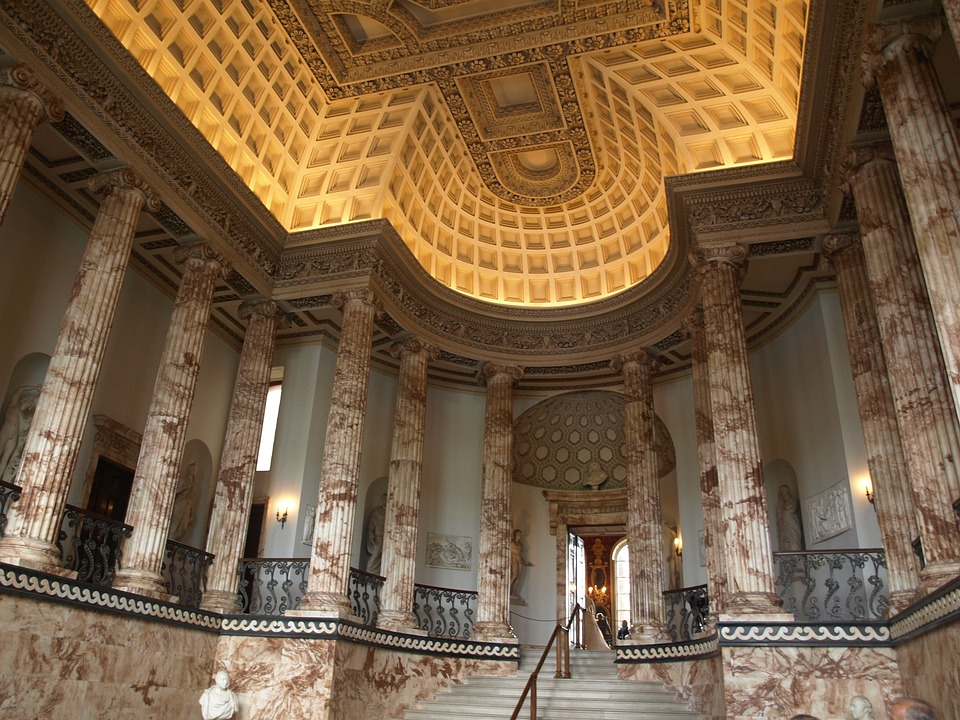 Marble, Hall, England, Great Britain, Architecture