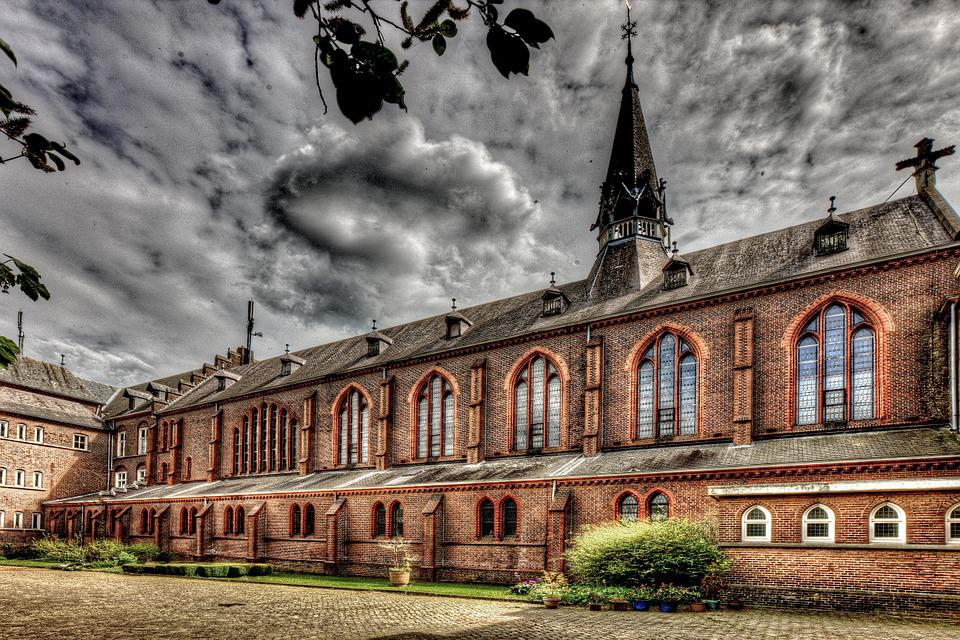Monastery, Building, Hdr, Expired, Old, Architecture