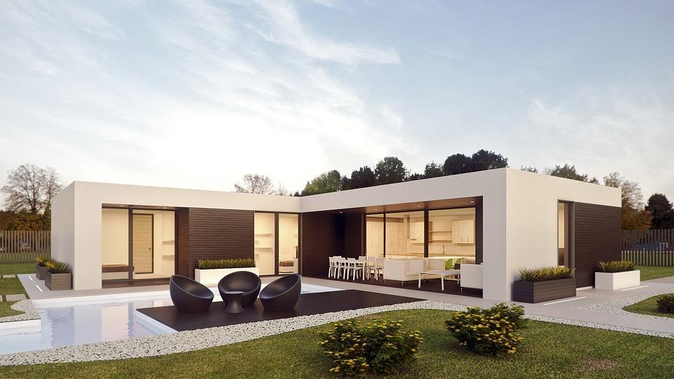 Architecture, Render, External, Design, Photoshop, 3d