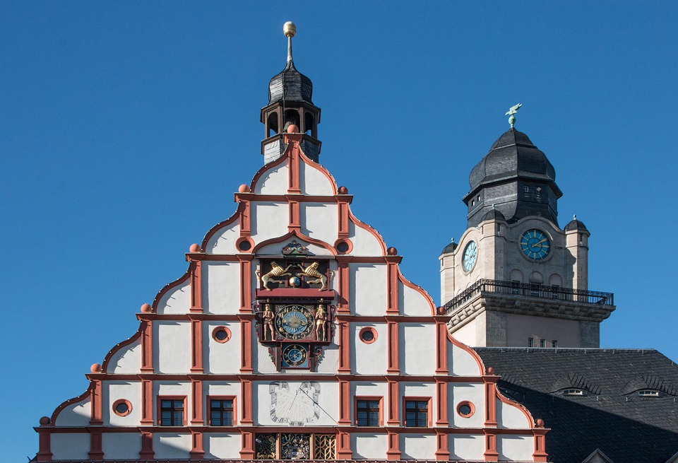 Architecture, Town Hall, Tower, Facade, Plauen