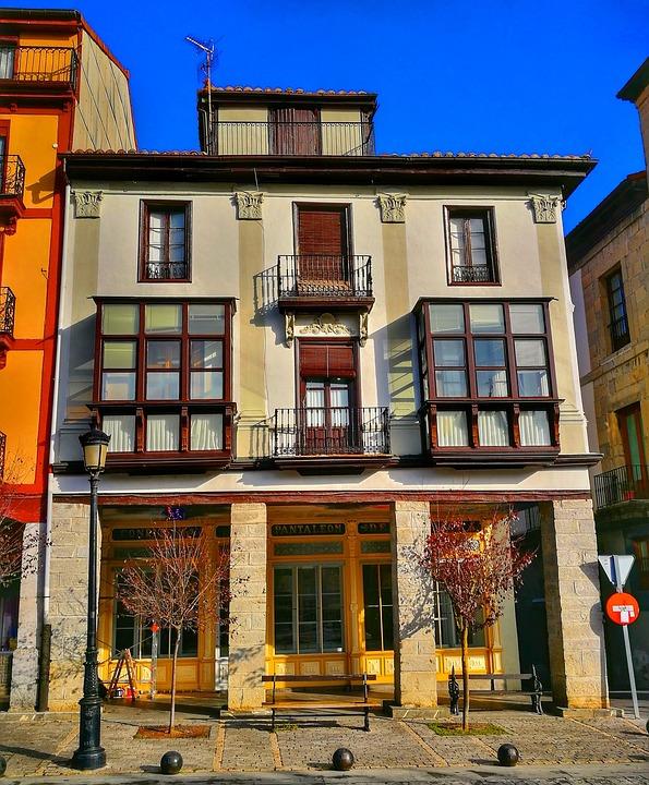 Architecture, House, Facade, Vintage